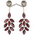 1.5 Ct, Red Garnet Leaf Style Earring in 925 Silver