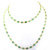 Natural Earthmined Emerald Gemstone Necklace in 925 Silver - ZeeDiamonds