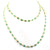 0.80 Ct, Emerald Gemstone Necklace in 925 Silver - ZeeDiamonds