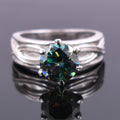 1-2 CT, BLUE DIAMOND SOLITAIRE RING IN 925 STERLING SILVER - ZeeDiamonds