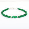 5 mm Emerald Gemstone Bracelet with Silver Finding, 100% Certified - ZeeDiamonds