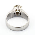 1-1.5 CT ROUND SHAPE CHAMPAGNE DIAMOND RING IN 925 SILVER - ZeeDiamonds