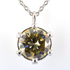 Stunning 1.5 Ct AAA Certified Champagne Diamond Pendant - ZeeDiamonds