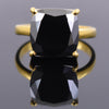 2.75 Ct AAA Quality Certified Cushion Cut Black Diamond Solitaire Ring - ZeeDiamonds