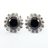 0.60 Ct Each, Certified Black Diamond Designer Accents Studs