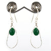 100% Certified Emerald Gemstone Dangler Earrings, Great Style - ZeeDiamonds