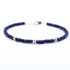 Certified Blue Sapphire Gemstone Bracelet with Silver Findings - ZeeDiamonds