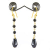 100% Certified Fancy Black Diamonds Dangler Earrings- Elegant Shine