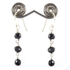 6 mm Certified Elegant Black Diamonds Dangler Earrings- Earth Mined