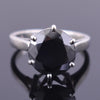 7 Ct AAA Quality Certified Round Brilliant Cut Black Diamond Ring - ZeeDiamonds