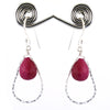 AAA Certified Natural African Ruby Gemstone Earrings, Great Design - ZeeDiamonds