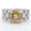 2-2.5 CT RADIANT CUT CHAMPAGNE DIAMOND SOLITAIRE RING - ZeeDiamonds