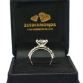 1.5-2 Ct Black Diamond Solitaire Ring With Black & White Accents - ZeeDiamonds