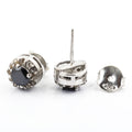 0.50 Ct Each, Certified Black Diamond Designer Accents Studs - ZeeDiamonds