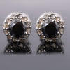 0.50 Ct Each, Certified Black Diamond Designer Accents Studs