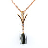 5.70 Ct, Black Diamond Beautiful Rose Gold Pendant For Gift - ZeeDiamonds