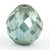 4.15 Ct Round Mixed Shape, 8x8 mm Blue diamond bead