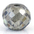 4.4 Ct Round Faceted, 7x8 mm Grey Diamond bead