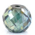 4.30 Ct Round Faceted, 7x8 mm Blue Diamond Bead - ZeeDiamonds