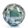 4.30 Ct Round Faceted, 7x8 mm Blue Diamond Bead