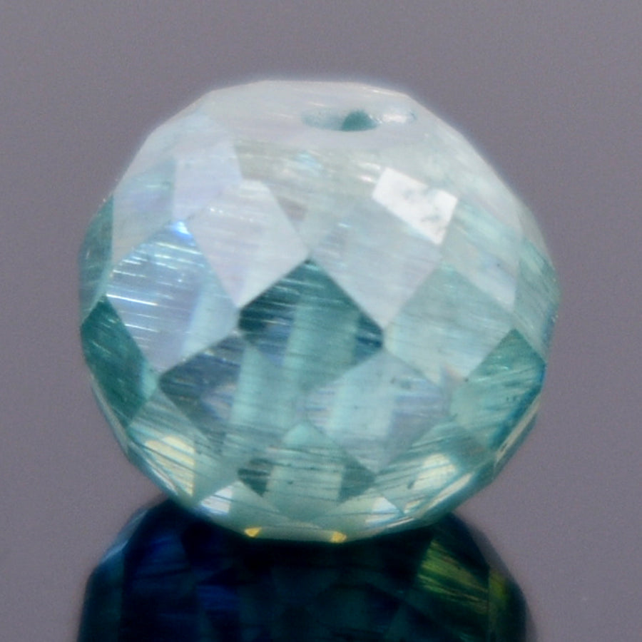 2.7 Ct Round Shape, 7mm Blue Diamond Bead - ZeeDiamonds