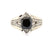 2 Ct Princess Ring Black Diamond Ring With White Diamond - ZeeDiamonds