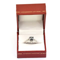 2 Ct Princess Cut Black Diamond & White Diamond Accents Wedding Ring For Women's - ZeeDiamonds