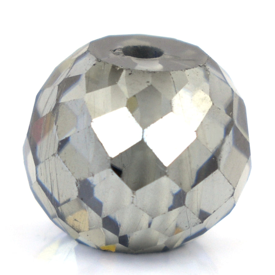 7.5 Ct Round Shape, 10 mm Grey Diamond Bead - ZeeDiamonds
