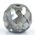 5.85 Ct Round Shape, 9 mm Grey Diamond Beads