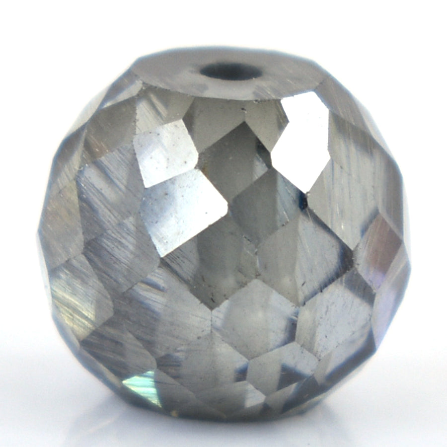 5.85 Ct Round Shape, 9 mm Grey Diamond Beads - ZeeDiamonds