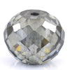 6.8 Ct Round Faceted, 10 mm  Grey Diamond Bead