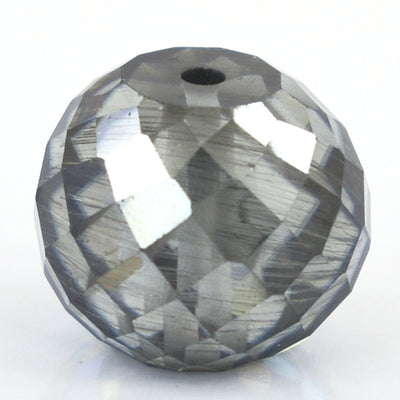 7.10 Ct Round Shape, 10 mm Grey Diamond Bead - ZeeDiamonds