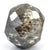 4.30 Ct Round Shape, 8 mm Grey Diamond Bead