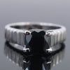 1.60 Ct AAA Certified Black Diamond Solitaire Ring, Great Shine