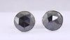 3.20 Ct AAA Certified Rose Cut Black Diamond Studs - Bezel Setting - Great Jewelry! - ZeeDiamonds