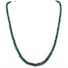 154 Ct Single Line Natural Emerald Gemstone Necklace, Great Gift