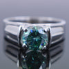 1.50  Ct AAA Certified Blue Diamond Solitaire Ring, Great Shine & Luster