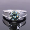 1.50 Ct AAA Certified Blue Diamond Solitaire Ring in 925 Sterling Silver