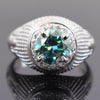 1.10 Ct Certified Blue Diamond Women's Ring with Diamond Accents