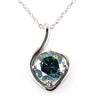 1.50 Ct, Elegant Blue Diamond Heart Shape Pendant, 100% Certified
