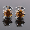 2 Ct Champagne Diamond Solitaire Studs in 6 Prong Setting - ZeeDiamonds