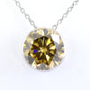 6.85 Ct Certified Champagne Diamond Solitaire Pendant, Great Shine - ZeeDiamonds