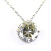 2.35 Ct AAA Certified Round Off-White Diamond Pendant in 4 Prongs