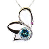 1.20 Ct Certified Beautiful Swan Blue Diamond Pendant With Diamond Accents