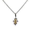 0.88 Ct Champagne Diamond Solitaire Pendant With Diamond Accents - ZeeDiamonds