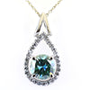 2 Certified Designer Blue Diamond Pendant with Diamond Accents