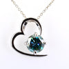 1.25 Ct Blue Diamond Beautiful Heart Design Pendant, AAA Certified