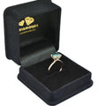 1-3 CT ROUND CUT BLUE DIAMOND SOLITAIRE RING IN 925 SILVER - ZeeDiamonds
