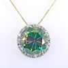 15.15 Ct Huge Blue Diamond Pendant with Diamond Accents, 100% Certified - ZeeDiamonds