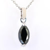 2.15 Ct Marquise Shape Black Diamond Fancy Pendant in Sterling Silver - ZeeDiamonds